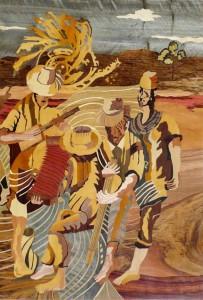 Souffle de vie, tableau de bois, par Dominique Masseron