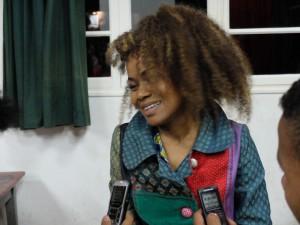 Eusébia interviewée par les élèves de René Cassin