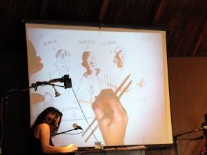 micro, mais, dessin, musique
